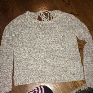 Gray and white Hollister sweater
